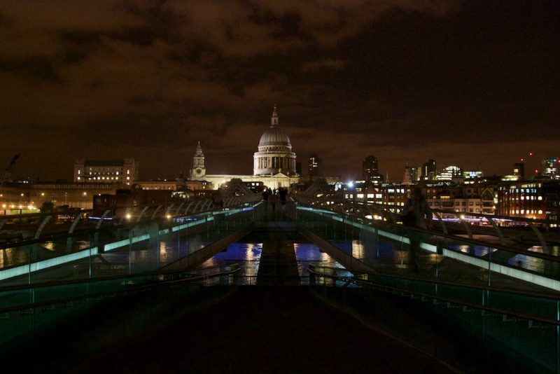 London's South Bank - St Pauls through the Millennium Bridge