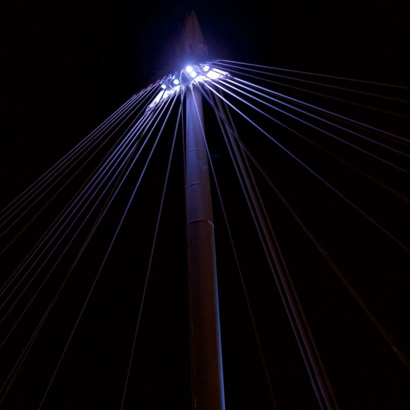 London's South Bank - Jubilee Bridge light