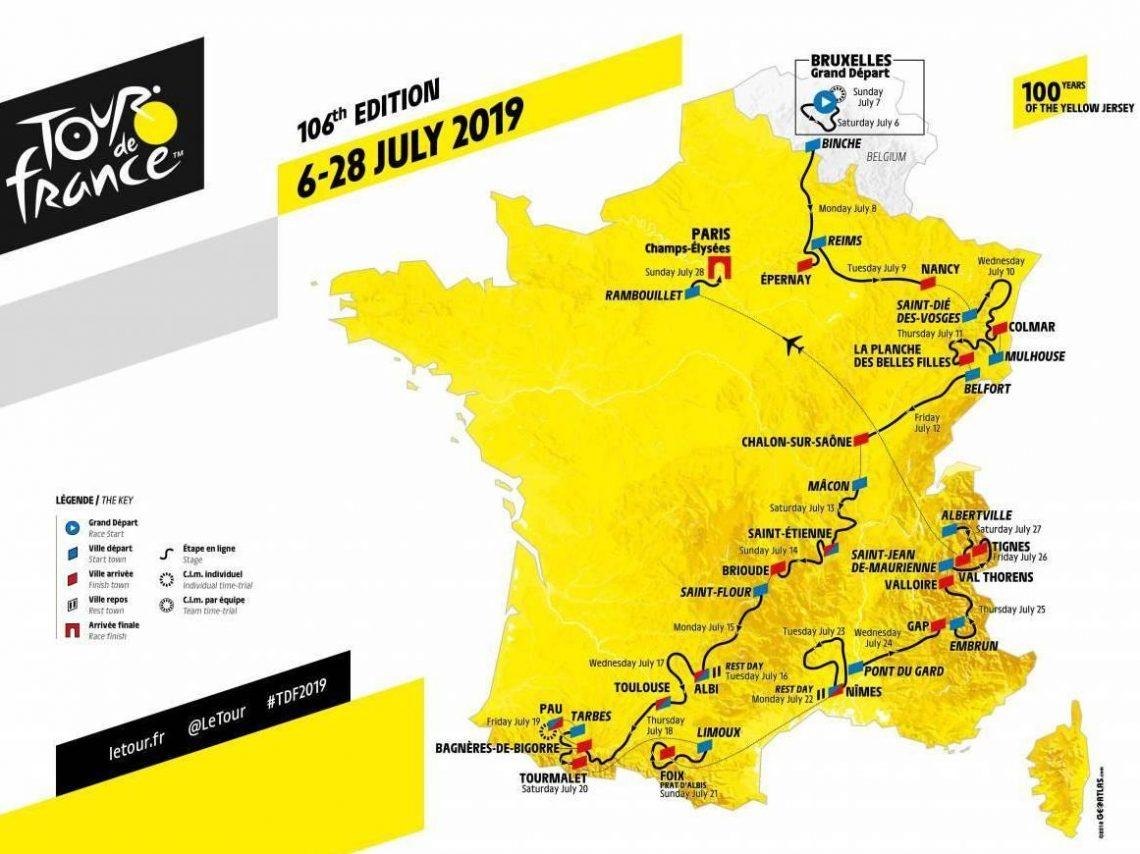 Tour de France 2019 Map